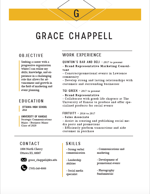 resume gracefully made